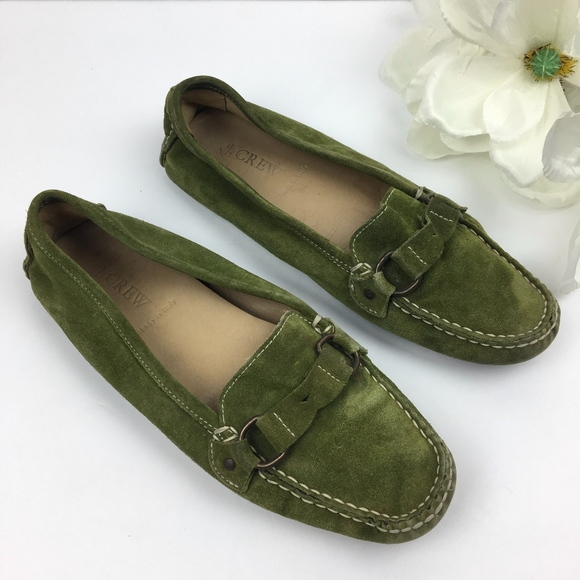 5026d317724 J. Crew Shoes - J. CREW ITALY Olive Green SUEDE Driving Flats 7
